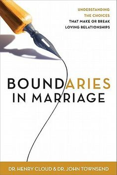 """[""""Only when you and your mate know and respect each other's needs, choices, and freedom can you give yourselves freely and lovingly to one another. Boundaries in Marriage<\/I> gives you the tools you need. Drs. Henry Cloud and John Townsend, counselors and authors of the award-winning best-seller Boundaries, show you how to apply the principles of boundaries to your marriage. This long-awaited book helps you understand the friction points or serious hurts and betrayals in your marriage…"""