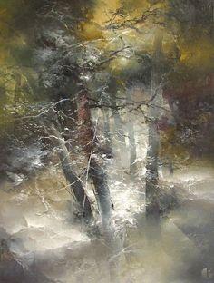 The artist Petras Lukosius. Watercolor Landscape Paintings, Abstract Watercolor, Landscape Art, Abstract Art, Watercolour, Forest Painting, Abstract Nature, Encaustic Painting, Art Abstrait