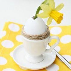 Een leuke tip met een leeg ei! Zet dit bij iedere gasten neer.
