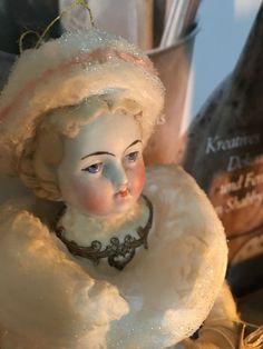 Wattefigur mit alten Porzellankopf,Weihnachten für Federbaum,JDL,Shabby,Vintage | eBay