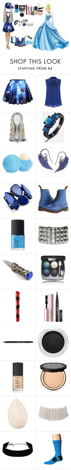 """Rebellious princess, Cinderella"" by ashleypurdy98 ❤ liked on Polyvore featuring Disney, Eos, Noor Fares, INC International Concepts, Dr. Martens, NARS Cosmetics, Chanel, Elizabeth Arden, Bobbi Brown Cosmetics and Clarins"