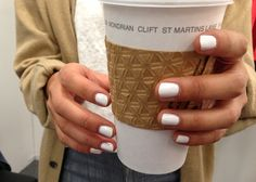"""White nail polish seems to come """"in fashion"""" time and time again. The jury's out - how do you feel about it??"""