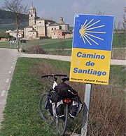 A twist on the Pyrenees Pilgrimage - on a bicycle. Typical view from the Camino