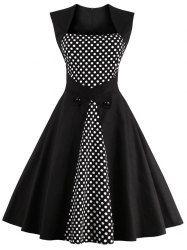 Polka Dot Semi Formal Midi Skater Dress - Black L Mobile Robes Vintage, Vintage Dresses, Vintage Outfits, Vintage Fashion, Vintage Clothing, Vintage Jewelry, Vestidos Vintage, Pretty Dresses, Beautiful Dresses