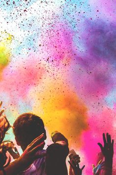 can't wait for our holi paint party at uni would love to go to the real festival of colours but this is the closest I'll ever get! We Color Festival, Holi Festival Of Colours, Holi Colors, Graphisches Design, Open Air, Color Of Life, One Color, Belle Photo, Christian Posters