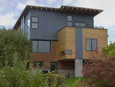 hardie panel in smooth - Bryant Remodel - contemporary - exterior - seattle - Floisand Studio