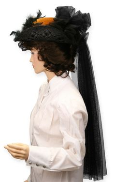 Victorian Ladies Hat, Cognac