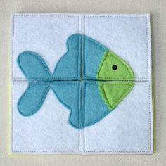 Puzzle GoldFish Busy Bag Activity Toddler Felt Toy by PopelineCo Diy Busy Books, Diy Quiet Books, Baby Quiet Book, Felt Quiet Books, Quiet Book Patterns, Little Presents, Puzzles For Toddlers, Easter Activities, Busy Bags
