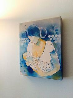 Breastfeeding Canvas Print, Nursing Mom Art, Mother's Day Gift, Lactation Consultant Office Decor, P Canvas Art, Canvas Prints, Art Prints, Lactation Room, Breastfeeding Art, Unique Mothers Day Gifts, Lactation Consultant, Clinic Design, Watercolor Paintings