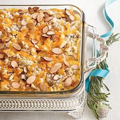 Chicken & Wild Rice Casserole. This has been a favorite of mine since I saw it in the Southern Living Christmas 2002 book! I usually put mine in 3 smaller casserole dishes - one for us, one to take to someone, and one to freeze!