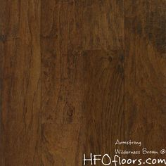 "American Scrape Wilderness Brown 5"" hickory hardwood. Available at HFOfloors.com."