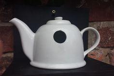 Vintage teapot bird house, bird lovers gift, nest box, garden ornament, garden birds nesting box, quirky garden decoration. - pinned by pin4etsy.com
