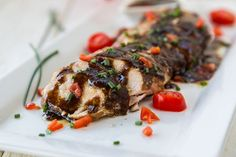 Slow Cooker Balsamic-Glazed Chicken Breast is delicious! #balsamicchicken #glazedchicken
