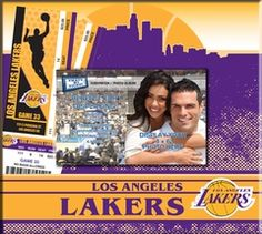 Los Angeles Lakers Ticket & Photo Album Scrapbook