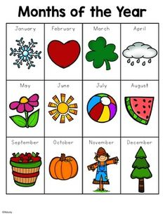 Months of the Year by Renee Dooly Preschool Education, Preschool Learning Activities, Preschool At Home, Special Education Classroom, Teaching Kids, Kids Learning, Pecs Communication, Bff Christmas Gifts, Montessori Preschool