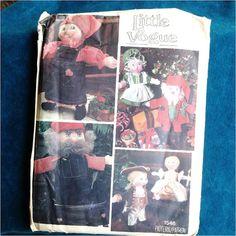 Vintage Vogue Pattern Uncut Doll and by MyQuietTimeBooksPlus