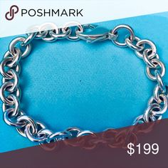 0f6001b17 Shop Women's Tiffany & Co. Silver size Large Jewelry at a discounted price  at Poshmark. Description: Solid Sterling Silver Hallmarked - AS SHOWN -  Authentic ...
