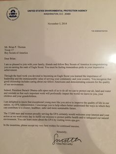 Eagle Scout Court Of Honor Letters Of Congratulations Robert