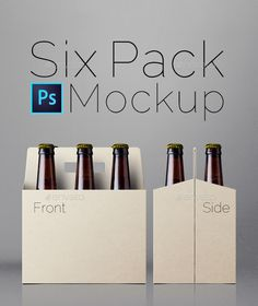 Six Pack Mockup  — PSD Template #presentation #package • Download ➝ https://graphicriver.net/item/six-pack-mockup/13083193?ref=pxcr