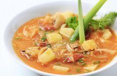 recetas de sopa de repollo para adelgazar