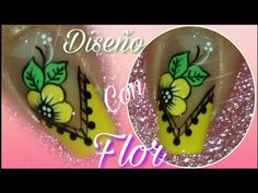 Decoración de uñas con flor en amarillo - YouTube Flower Nails, Toe Nails, Manicure, Nail Designs, Nail Art, Youtube, Tutorial Nails, Red Nails, Nail Arts