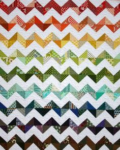 A Happy ZigZag Quilt with general instructions | A Little Bit Biased