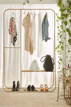 """Interesting idea """"Clothing Rack that was means to be seen"""" even though I don't want to display my clothes, it could make for a beautiful closet"""