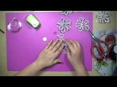 YouTube Zipper Flowers, Fabric Flowers, Ribbon Flower, Ribbon Hair, Bow Tutorial, Flower Tutorial, Beaded Ornaments, Diy Christmas Ornaments, Bead Crafts