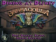 Dining at Sassagoula Floatworks and Food Factory in Walt Disney World.