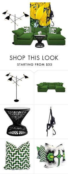"""""""Vibrant Living"""" by lovetodrinktea ❤ liked on Polyvore featuring interior, interiors, interior design, home, home decor, interior decorating, Joybird and Seletti"""