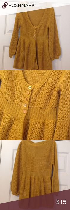F21 cardigan Gold/mustard yellow cardigan. Worn once Forever 21 Sweaters Cardigans