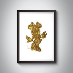 Minnie Mouse Gold Glitter Silhouette Print Disney Wall Art - Instant Download by 3SixteenDesign on Etsy Printing Services, Online Printing, Disney Wall Art, Picture Show, Gold Glitter, Minnie Mouse, Finding Yourself, Silhouette, Colours