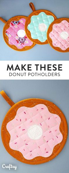 If you're a fan on donuts, sew up these adorable donut potholders for your kitchen. Get this super sweet sewing pattern for FREE at Craftsy!