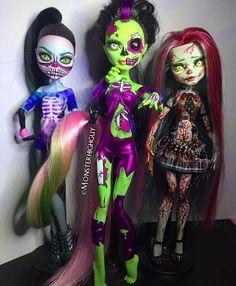 Custom Monster High Dolls, Monster High Repaint, Monster Dolls, Custom Dolls, Monster High Ghoulia, Living Dead Dolls, Haunted Dolls, Gothic Dolls, Halloween Doll