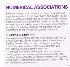 Numerical Associations