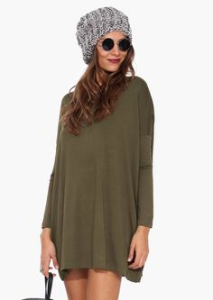 Basic Spring Dress in Olive | Necessary Clothing