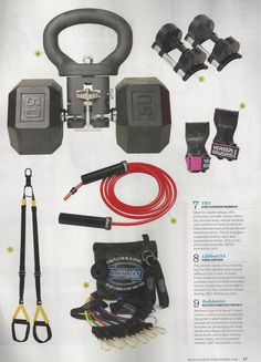 Home gym ideas from Muscle & Fitness Hers magazine.  www.brooklynfitchick.com