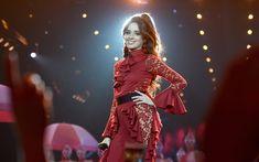Download wallpapers 4k, Camila Cabello, 2017, cuban singer, concert, beautiful woman