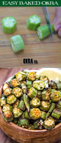 This is a simple flavorful and easy Baked Okra recipe. Seasoned with paprika This is a simple flavorful and easy Baked Okra recipe. Seasoned with paprika salt and a pinch of cayenne this okra makes a great snack or side dish. Side Dish Recipes, Veggie Recipes, Snack Recipes, Dinner Recipes, Cooking Recipes, Pasta Recipes, Vegetarian Appetizers, Simple Vegetable Recipes, Frozen Okra Recipes