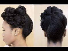 All Rolled Up | Updo on Natural Hair - YouTube