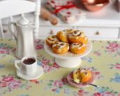 CuteinMiniature on Etsy: Miniature Cinnamon Raisin Rolls with Hot Chocolate