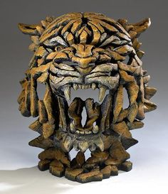 Tiger Bust Bengal by Edge Sculpture