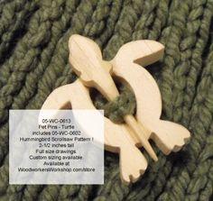 Turtle Pet Pin Scrollsaw Woodworking Pattern PDF includes Hummingbird woodworking plan