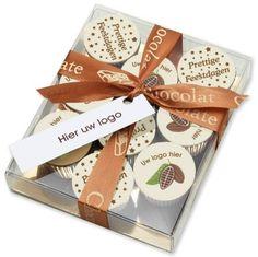 Kerst fotoprint chocolade pottekes in geschenkdoos (9st)