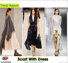 PairingScarf With Dress Trend for Fall Winter 2014 #Fall2014 #FW2014 #Fashion #Trends