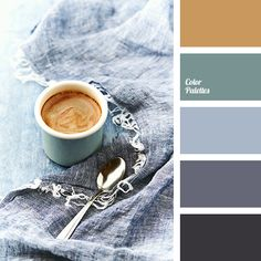 cinnamon color, coffee color, cold green, cold shades of gray, color of coffee foam, color palette for winter, colors of winter 2018, cyan-gray color, dark gray, graphite, gray with a touch of blue, pastel green, shades of gray-blue.