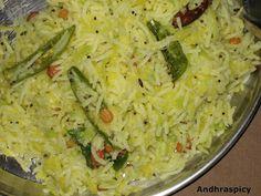 Mamidikaya Pulihora (Raw Mango Rice)