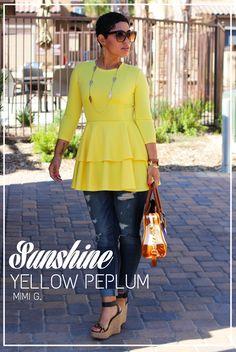 DIY Sunshine Yellow Peplum