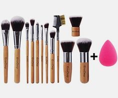 EmaxDesign 12+1 Pieces Makeup Brush Set, 12 Pieces Professional Bamboo Handle Foundation Blending Blush Eye Face Liquid Powder Cream Cosmetics Brushes & 1 Piece Rose Red Beauty Sponge Blender  BUY NOW     $49.99     EmaxDesign – My Beautiful Life    For Applying Makeup Perfectly     Set Contains:    1. Foundation Brush   2. Big Eye shadow ..  http://www.beautyandluxuryforu.top/2017/03/08/emaxdesign-121-pieces-makeup-brush-set-12-pieces-professional-bamboo-handle-foundation-blen..