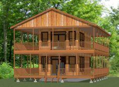 16x30 House -- with amazing wraparound porch!